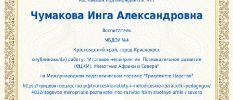 Сертификат о публикации 2020